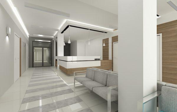 Projekt wnętrz kliniki w Ustroniu